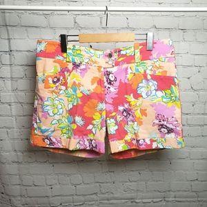 Bianca Nygard Mod Floral 60s Pattern Shorts Plus